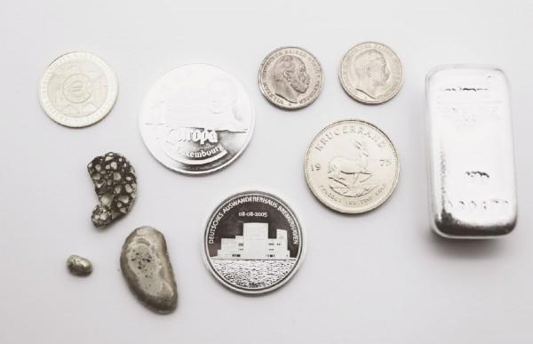 Gold-, Silber- und Platinbarren und -münzen